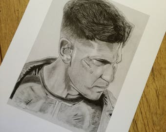 The Punisher pencil drawing - high quality print