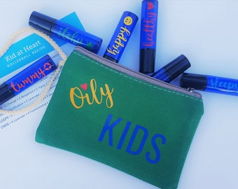 Kid At Heart - Rainbow rollerball set for essential oils