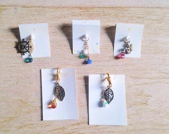 Lampwork charm/glassart keyholder /glassart strup /leaf charm/fairytales charm/wheel charm