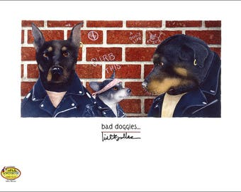 bad doggies...