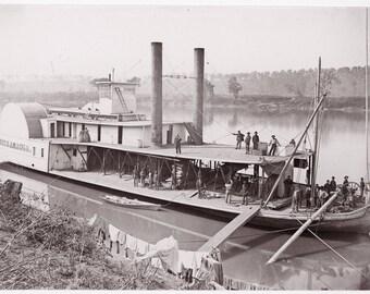 Transport Tennessee river by Mathew Brady.