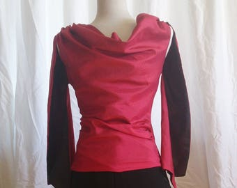 Cowl neck shirt