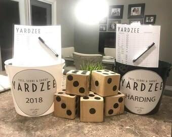 Outdoor Yahtzee Game- YARDZEE- Wooden Dice