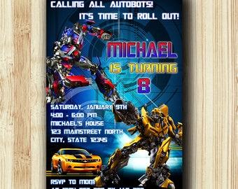 Transformer Invitation,Transformer Birthday,Transformer Birthday Invitation,Transformer Party,Transformer Printable,Transformer-211
