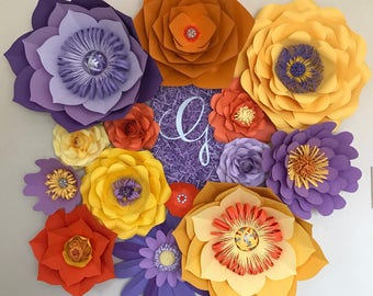 Custom paper flower sets