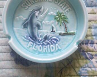 Vintage Florida Souvenir Ashtray