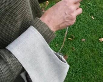 Single Skein Project Bag, the Sock Sack - Natural