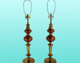 Mid-Century Pair of Rembrandt Table Lamps, A Pair