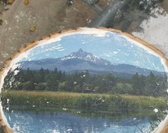 Mt Washington Reflection Woodblock