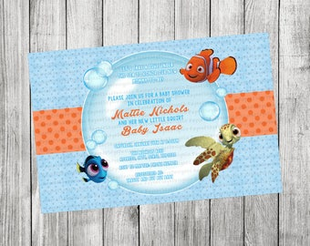 Finding Nemo/ Dory Baby Shower Invitation