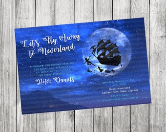 Peter Pan Invitation