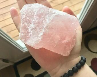 Rough Rose Quartz Large Crystal