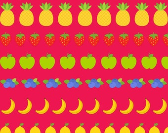 Pink Tutti Fruitti digital paper