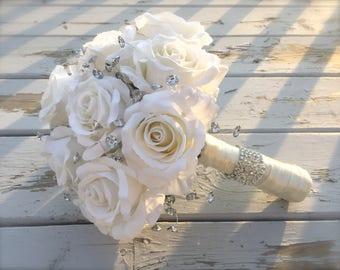 bling bouquet/bridal bouquet/artificial bouquet/bridal bouquet/bling bridal bouquet