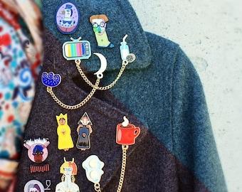ON SALE BEST Deal set of 10 enamel pins