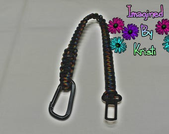 Paracord dog car leash