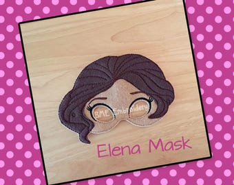 Elena Mask-Dress Up-Halloween Mask/Costume-Pretend Play-Child's Imaginary Play- Birthday Party Favor-Theme Parties-Princess Party-Photo Prop