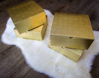 Gift Box- Bridesmaid proposal box, Will you be my bridesmaid- Gold box