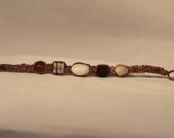Hemp Bracelet - Glass Beads