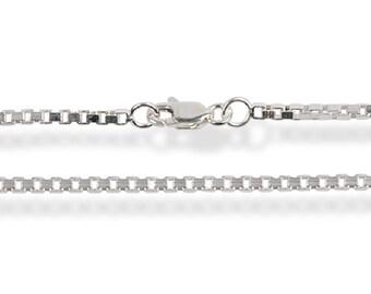 Big Square Box Silver Chain