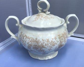 Vintage Bone China Mikasa Sugar Bowl w/ Lid L-9078
