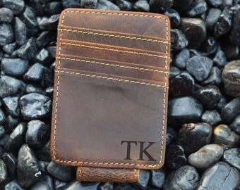 Personalized Money Clip, Leather Money Clip, money clip, groomsman gift, groomsmen gifts, leather wallet, personalized gift for him