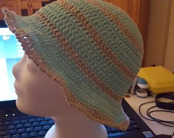 crocheted summer hat, women's hat, crochet hat, Sun Hat
