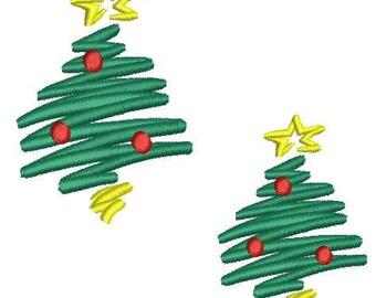 NeedleUp - Christmas Tree embroidery design