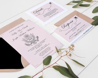 Passport Wedding Invitation Suite - Destination Wedding Invitation