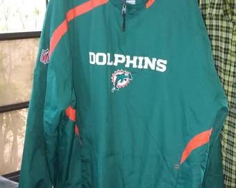 miami dolphins jacket onfield reebok
