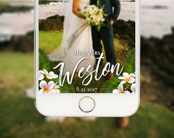 Plumeria Wedding, Wedding Geofilter For Snapchat, Wedding Geofilter, Custom Geofilter, Wedding Geo Filter, On Demand Filter