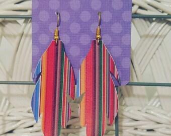 Serape feather Earrings