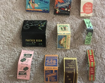 10 Vintage Matchbooks