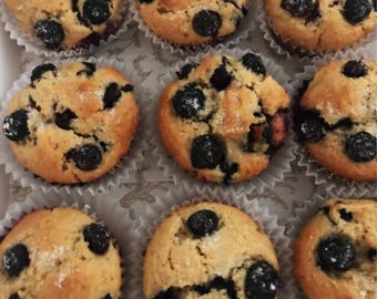 Blueberry Muffins (or Strawberry Muffins) ~ Office Party, Holiday Gift, Breakfast or Brunch