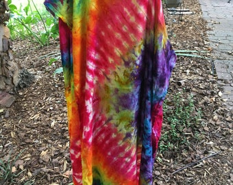 Rainbow Tie Dye Infinity Scarf - Three Season Scarf