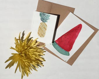 Watermelon and Pineapple Card Bundle