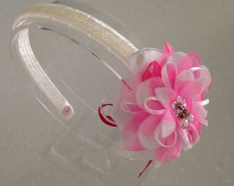 Hair band with glitter and Flower