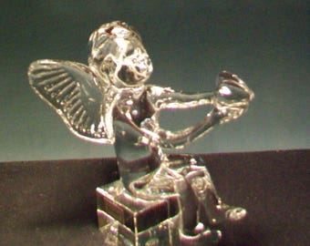 Baccarat Crystal Heart Holding Angel