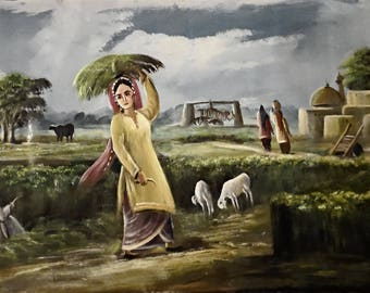Original Oil painting on Canvas by painter