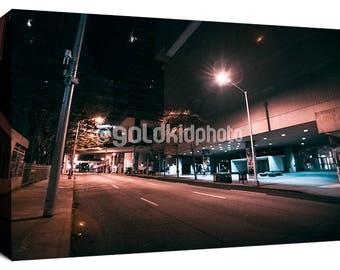 Atlanta Photography, Canvas Art, Urban, Street, Skyscraper, City, Nature, Skyline, Clouds, Travel, Wanderlust, Wall Decor, Wrapped Canvas