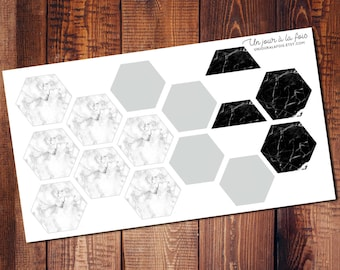 Marble hexagons