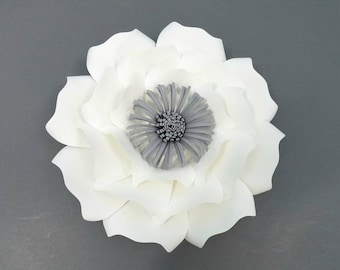 Large paper flower DIY hard copy template #4. DIY large paper flower cardstock template. Paper flower template cardstock.