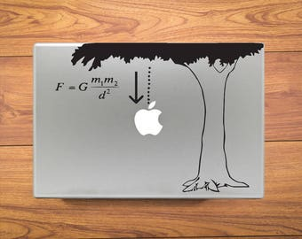 Newton Law of Gravity Equation Humor Macbook Decal Stickers Fits Mac Pro / Air / Retina Sizes 13 / 15 / 17 Laptop