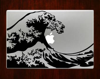 Hokusai Wave Japanese Art Macbook Decals Sticker Macbook Pro / Macbook Air 13 / 15 / 17 Laptop Cover