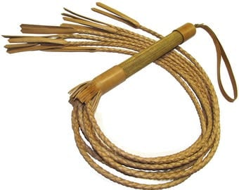 Premium historical braided whip leather whip cat-O-7 cat BDSM spanking impact tool