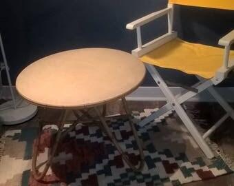 Rattan tripod table