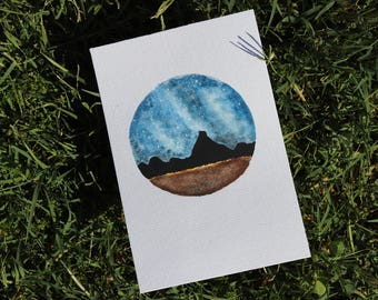 DISCOUNTED* Mountain and Stars Painting