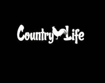 Country Life Decal Etsy - Country custom vinyl decals for trucks