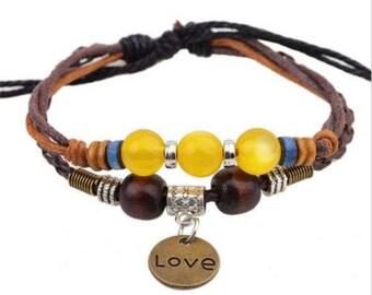 Love Leather Fashion Adjustable Bracelet-b13