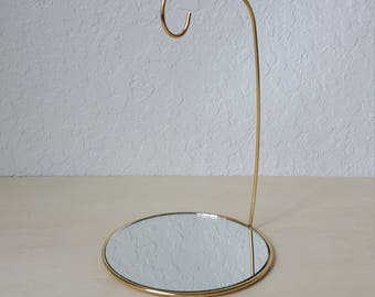 Gold Mirror Necklace Stand